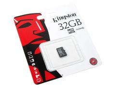 Карта памяти microSDHC, 32Gb, Class4, Kingston, без адаптера (SDC4/32GBSP)