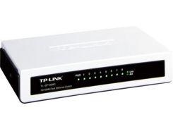 Коммутатор TP-LINK TL-SF1008D, White/Gray, 8-портовый, 10/100 Мбит/с, неуправляемый, пластиковый корпус