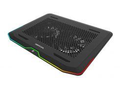 """Подставка для ноутбука до 17.3"""" DeepCool N80 RGB, 2х14 см вентилятор (21 dB, 1000 rpm), алюминиевая сетка, 427х316х25 мм, 465 г"""
