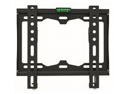 """Настенное крепление LCD/Plasma TV 15-42"""" Walfix TV-10B Black, VESA 200x200, до 25 кг, отступ от стены 25 мм, уровень"""