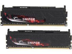 Память 4Gb x 2 (8Gb Kit) DDR3, 2133 MHz (PC3-17060), G.Skill Sniper, 11-11-11-30, 1.60V, с радиатором (F3-17000CL11D-8GBSR)
