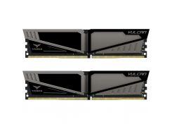 Память 16Gb x 2 (32Gb Kit) DDR4, 2666 MHz, Team T-Force Vulcan, Gray, 15-17-17-35, 1.35V, с радиатором (TLGD432G2666HC15BDC01)