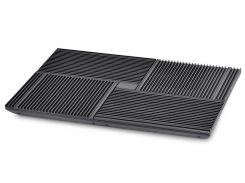 """Подставка для ноутбука до 17"""" DeepCool Multi Core X8, Black, 4x10 см вентиляторы (23 dB, 1300 rpm), алюминевая сетка, 2xUSB Hub, 381х268х29 мм, 1290 г"""