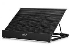 """Подставка для ноутбука до 17"""" DeepCool N9 EX, Black, 14 см вентилятор (21.5/26/5 dB, 700/1200 rpm), алюминевая панель, 4xUSB Hub, 360x272x45 мм, 1622"""