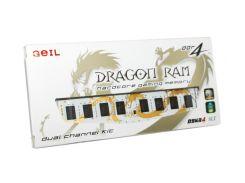 Память 8Gb x 2 (16Gb Kit) DDR4, 2400 MHz, Geil Dragon Ram, 14-16-16-35, 1.2V, с LED подсветкой (GWB416GB2400C16DC)