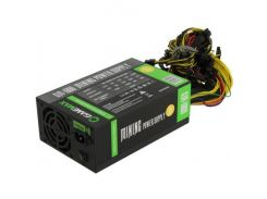 Блок питания GameMax GM-1800 1800W, 8cm*2 black fan, 80 Plus Gold, 18x6+2pin, Active PFC, Box