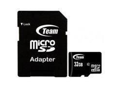 карта памяти team 32gb microsdhc class 10 (tusdh32gcl1003)