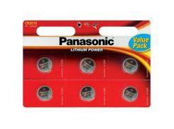Батарейка PANASONIC CR 2016 * 6 LITHIUM (CR-2016EL/6B)
