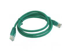 Патч-корд 1 м, UTP, Green, Cablexpert, литой, RJ45, кат.5е (PP12-1M/G)