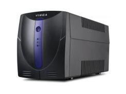 Источник бесперебойного питания Vinga LED 1200VA plastic case with USB+RJ11 (VPE-1200PU)