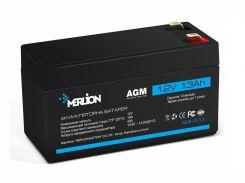 Батарея для ИБП 12В 1,3Ач Merlion / AGM GP1213F1 12 V 1,3Ah  / ШхДхВ 98x43x58 / Q20