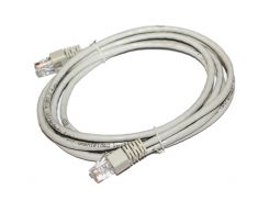 Патч-корд 2 м, UTP, Grey, Cablexpert, литой, RJ45, кат.5е (PP12-2M)