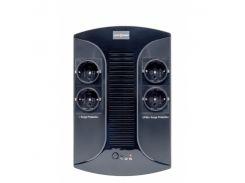 ИБП LogicPower LP-850VA-PS Black, 850VA, 510W, линейно-интерактивный, AVR есть, 4 розетки (Schuko), батарея 12В/8Ач x 1 шт, пластиковый корпус