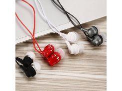 Наушники Sertec ST-204 White, Mini jack (3.5 мм), вакуумные, кабель 1.2 м