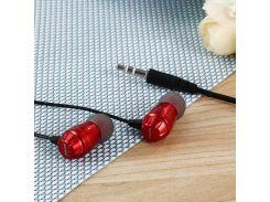 Наушники Sertec ST-301 Red, Mini jack (3.5 мм), вакуумные, кабель 1.2 м