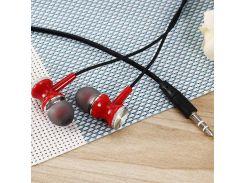 Наушники Sertec ST-302 Red, Mini jack (3.5 мм), вакуумные, кабель 1.2 м