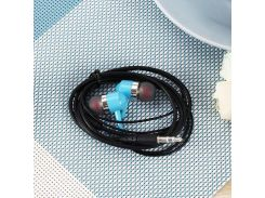 Наушники Sertec ST-307 Blue, Mini jack (3.5 мм), вакуумные, кабель 1.2 м