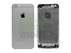 Корпус для iPhone 6 Plus, темно-серый, копия высокого качества