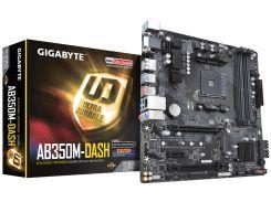 Мат.плата AM4 (B350) Gigabyte GA-AB350M-DASH, B350, 4xDDR4, CrossFire, Int.Video(CPU), 6xSATA3, 1xM.2, 1xPCI-E 16x 3.0, 1xPCI-E 16x 2.0, 1xPCI-E 1x