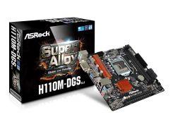 Мат.плата 1151 (H110) AsRock H110M-DGS R3.0, H110, 2xDDR4, Int.Video(CPU), 4xSATA3, 1xPCI-E 16x 3.0, 1xPCI-E 1x 2.0, ALC887, RTL8111C,