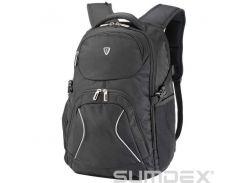 "Рюкзак 17"" Sumdex PON-379BK, Black, полиэстер, 26,7 x 40 x 3,8 см"