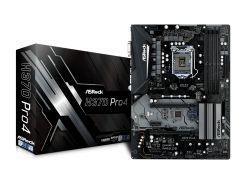 Мат.плата 1151 (H370) AsRock H370 Pro4, H370, 4xDDR4, CrossFire, Int.Video(CPU), 6xSATA3, 2xM.2, 2xPCI-E 16x 3.0, 3xPCI-E 1x 3.0, 1xM.2 (Key E),