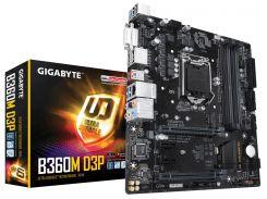 Мат.плата 1151 (B360) Gigabyte B360M D3P, B360, 4xDDR4, CrossFire, Int.Video(CPU), 6xSATA3, 1xM.2, 2xPCI-E 16x 3.0, 2xPCI-E 1x 3.0, 1xM.2 (Key E),