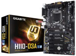 Мат.плата 1151 (H110) Gigabyte GA-H110-D3A, H110, 2xDDR4, Int.Video(CPU), 4xSATA3, 1xM.2, 1xPCI-E 16x 3.0, 5xPCI-E 1x 2.0, ALC887, GLan,