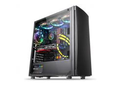 Корпус Thermaltake Versa H27 Tempered Glass Edition, Black, Mid Tower, без БП, для ATX / Micro ATX / Mini ITX, ATX PSU, 493 x 219 x 469 мм, 7,1 кг