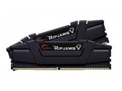Память 16Gb x 2 (32Gb Kit) DDR4, 3200 MHz, G.Skill Ripjaws V, Black, 16-18-18-38, 1.35V, с радиатором (F4-3200C16D-32GVK)