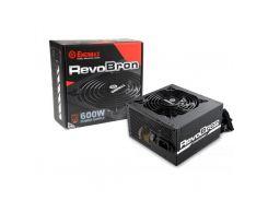 Блок питания Enermax RevoBron 600 W 80 Plus Bronze (ERB600AWT) 120mm, 20+4pin, 1x4+4pin, SATA х 8, Molex 4x4pin, 4x6+2pin, кабеля модульные