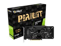 Видеокарта GeForce GTX 1660 Ti OC, Palit, Dual OC, 6Gb DDR6, 192-bit, DVI/HDMI/DP, 1815/12000 MHz, 8-pin (NE6166TS18J9-1160A)