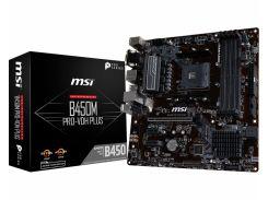 Мат.плата AM4 (B450) MSI B450M PRO-VDH PLUS, B450, 4xDDR4, Int.Video(CPU), 4xSATA3, 1xM.2, 1xPCI-E 16x 3.0, 2xPCI-E 1x 2.0, ALC892, RTL8111H,