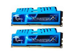Память 8Gb x 2 (16Gb Kit) DDR3, 1600 MHz (PC3-12800), G.Skill RipjawsX, Blue, 9-9-9-24, 1.5V, с радиатором (F3-1600C9D-16GXM)