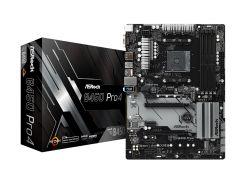 Мат.плата AM4 (B450) AsRock B450 Pro4, B450, 4xDDR4, CrossFire, Int.Video(CPU), 6xSATA3, 1xM.2, 2xPCI-E 16x 3.0, 4xPCI-E 1x 2.0, ALC892, RTL8111H,