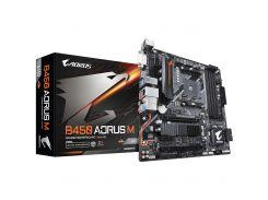Мат.плата AM4 (B450) Gigabyte B450 AORUS M, B450, 4xDDR4, CrossFire, Int.Video(CPU), 6xSATA3, 1xM.2, 1xPCI-E 16x 3.0, 1xPCI-E 16x 2.0, 1xPCI-E 1x 2.0,
