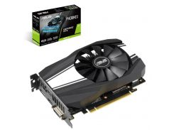 Видеокарта GeForce GTX 1660 Ti, Asus, Phoenix, 6Gb DDR6, 192-bit, DVI/HDMI/DP, 1800/12000 MHz, 8-pin (PH-GTX1660TI-6G)