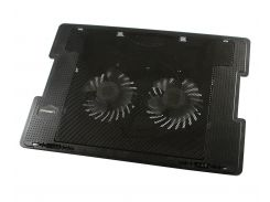 """Подставка для ноутбука до 17"""" Zero ZR650, Black, 2x9 см вентиляторы, 2xUSB Hub, 383х285х50 мм, 1050 г"""
