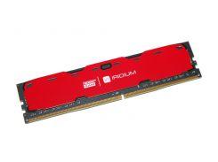 Память 4Gb DDR4, 2400 MHz, Goodram Iridium, Red, 15-15-15, 1.2V, с радиатором (IR-R2400D464L15S/4G)