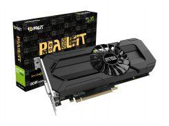 Видеокарта GeForce GTX1060, Palit, StormX, 3Gb DDR5, 192-bit, DVI/HDMI/3xDP, 1708/8000 MHz (NE51060015F9-1061F) (Ref, 12 месяцев гарантии)