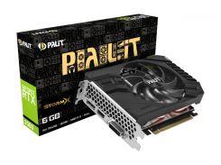 Видеокарта GeForce RTX 2060, Palit, StormX, 6Gb DDR6, 192-bit, DVI/HDMI/DP, 1680/14000 MHz, 8-pin (NE62060018J9-161F)