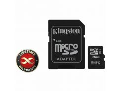 Карта памяти 16Gb microSDHC class 4 Kingston (SDC4/16GB)
