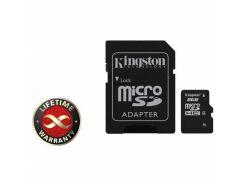 Карта памяти 8Gb microSDHC class 4 Kingston (SDC4/8GB)