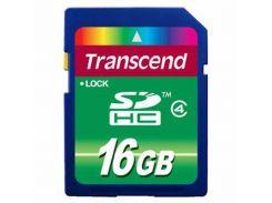Карта памяти 16Gb SDHC class 4 Transcend (TS16GSDHC4)