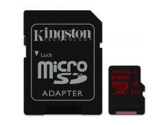 Карта памяти Kingston 64GB microSDXC Class 10 UHS-I U3 (SDCA3/64GB)