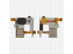 Динамик + звонок для мобильного телефона Samsung M7500, с коннектором карты памяти, с разъёмом наушников, в рамке