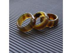 """Широкое кольцо из черепахового Агата в огранке """"Изумрудная мечта"""""""