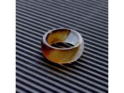 """Широкое кольцо в огранке из Коричневого Агата """"Хрустальные мечты"""""""