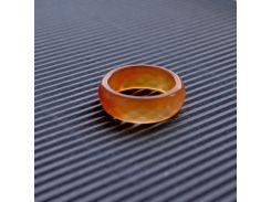 """Широкое кольцо в огранке из карамельного Сердолика """"Хрустальные мечты"""""""