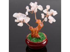 """Денежное дерево из розового кварца - """"Счастье в горшочке"""""""